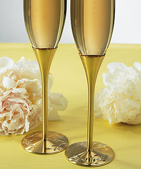 Venice Gold Toasting Flutes-