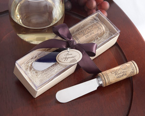 """Vintage Reserve"" Stainless-Steel Spreader with Wine Cork Handle-Stainless-Steel Spreader Wedding Favor"