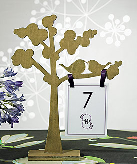 "Wooden Die-cut Trees with ""Love Birds"" Silhouette - Set of 2 Assorted-placecards, reception card, place card holders, card place holders, wedding table names, placecard holders, wedding table numbers, place card holder, wedding table number ideas, wedding table cards"