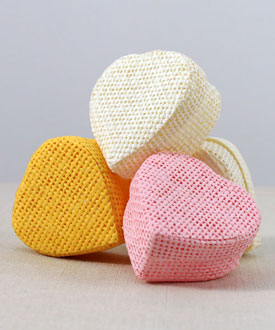 Woven Heart Shaped Box with Lid (Set of 24)-Woven Heart Shaped Box with Lid