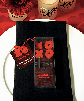 X  & O Food Picks-Food Picks, wine wedding party supplies