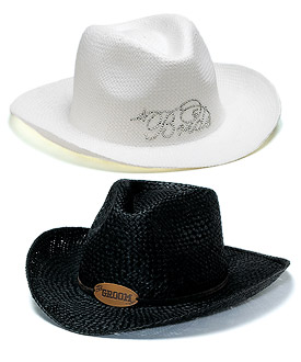 Bride Groom Cowboy Hats-Bride Groom Cowboy Hats