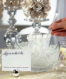 Love Wedding Bubble Favor Wands - Set of 24-Love Wedding Bubble Favor Wands