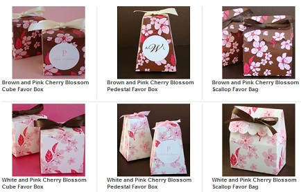 Cherry Blossom Favor Box-Cherry Blossom Favor Box