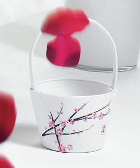 Cherry Blossom Flower Girl Basket-