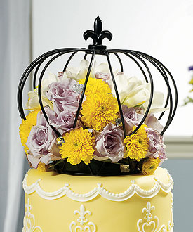 Large Crown Unique Wedding Cake Topper-Large Crown Unique Wedding Cake Topper