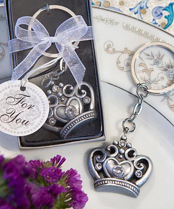Royal Favor Collection crown design key ring favors-Royal Favor Collection crown design key ring favors