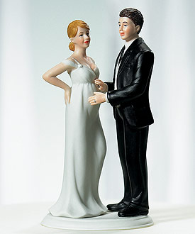"""Expecting"" Bridal Couple Figurine-Expecting Bridal Couple Figurine wedding cake topper"