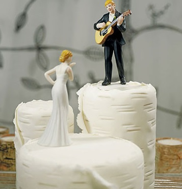 """LOVE SERENADE"" GUITAR PLAYING GROOM FIGURINE-guitar cake topper"