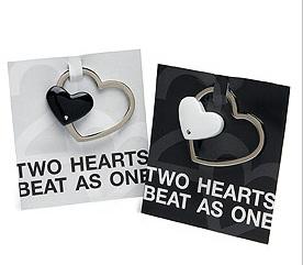 Practical Metal Heart Key Ring Holder Wedding Favor-Practical Metal Heart Key Ring Holder Wedding Favor