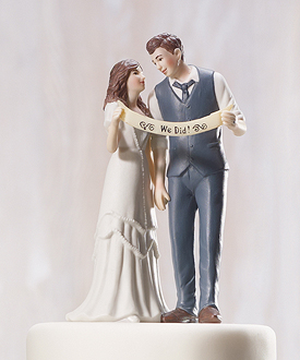 indie style wedding couple figurine-indie style wedding couple figurine