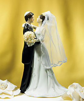 Traditional Jewish Bride and Groom Cake topper-Traditional Jewish Bride and Groom Cake topper