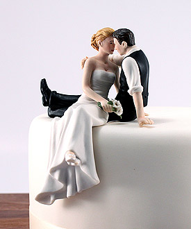The Look of Love Couple Romantic Wedding Cake Topper-weddingstar cake topper