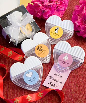 Personalized Expressions Collection heart shaped magnetic memo clip favors-Personalized Expressions Collection heart shaped magnetic memo clip favors