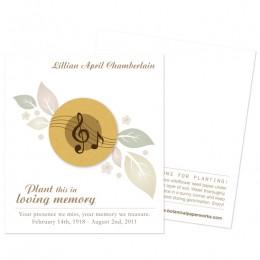 Musical Memorial Cards-Musical Memorial Cards