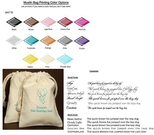 Bridal Shower Personalized Muslin Bag Favors-Bridal Shower Personalized Muslin Bag Favors