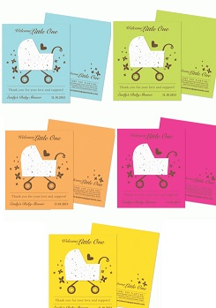 Bright Baby Carriage Plantable Favor-Bright Baby Carriage Plantable Favor