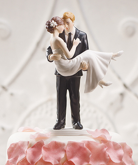 swept up in his arms wedding couple figurine-swept up in his arms wedding couple figurine
