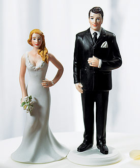 wedding cake topper figurines curvy and burly figurines 8802